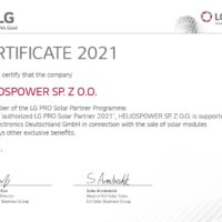 LG PRO Contract 2021 and certificate